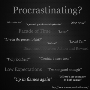 Meet my nemesis, procrastination.  #Time #Happiness